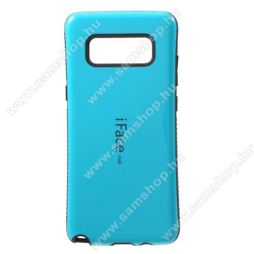 iFace műanyag védő tok / hátlap - VILÁGOSKÉK - szilikon betétes, ERŐS VÉDELEM! - SAMSUNG SM-N950F Galaxy Note8