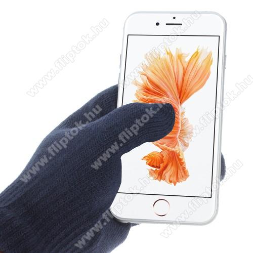 Huawei Enjoy 10iGlove érintő kesztyű - kapacitív kijelzőhöz - SÖTÉTKÉK