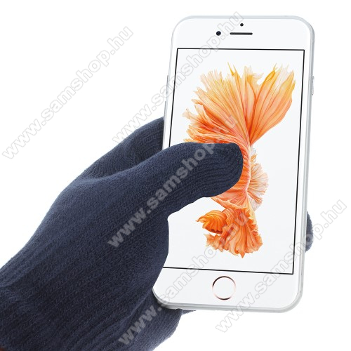SAMSUNG GT-I9506 Galaxy S IV.iGlove érintő kesztyű - kapacitív kijelzőhöz - SÖTÉTKÉK