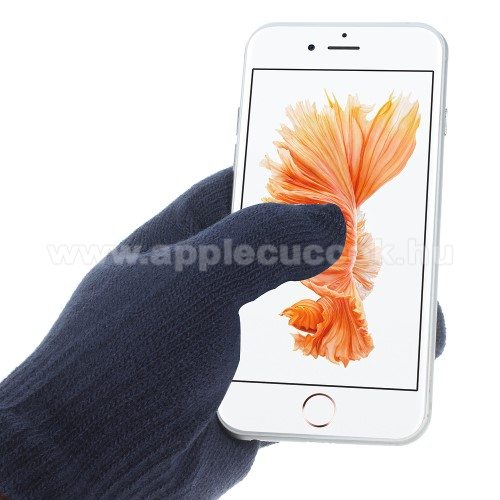 APPLE iPhone 8 PlusiGlove érintő kesztyű - kapacitív kijelzőhöz - SÖTÉTKÉK