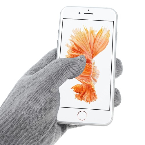 APPLE iPad Pro 9.7 (2016) iGlove érintő kesztyű - kapacitív kijelzőhöz - VILÁGOS SZÜRKE