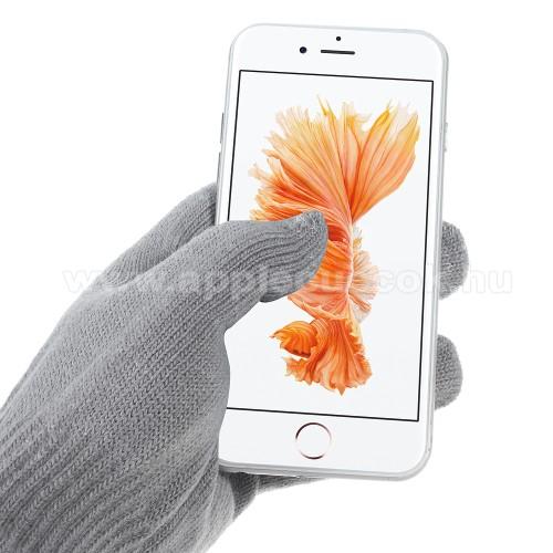 APPLE iPhone 3GiGlove érintő kesztyű - kapacitív kijelzőhöz - VILÁGOS SZÜRKE