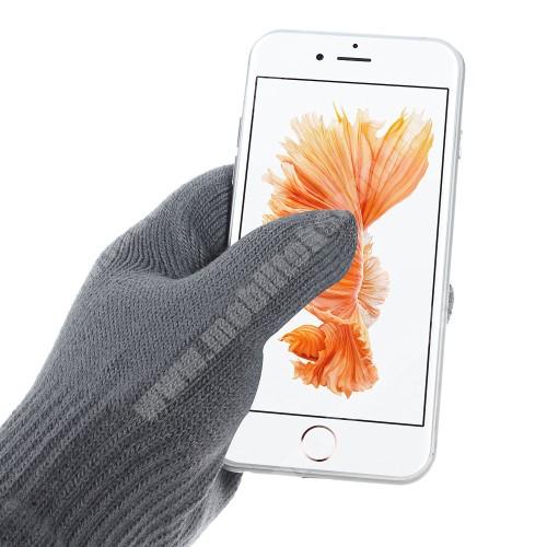 LG G6 (H870) iGlove érintő kesztyű - kapacitív kijelzőhöz - SÖTÉT SZÜRKE