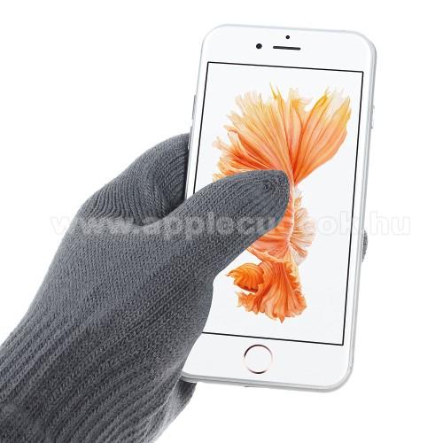 APPLE iPad Pro 11 (2018)iGlove érintő kesztyű - kapacitív kijelzőhöz - SÖTÉT SZÜRKE