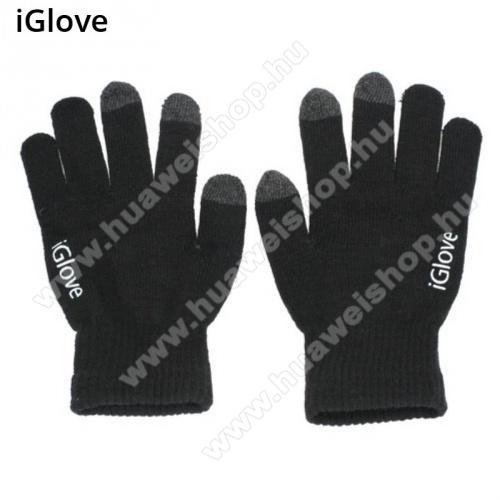 HUAWEI P8 maxiGlove érintő kesztyű - kapacitív kijelzőhöz - FEKETE