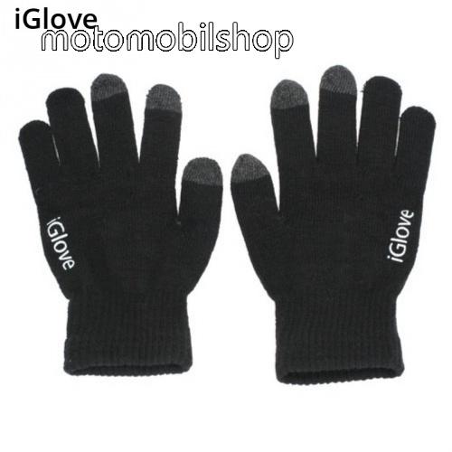 MOTOROLA Motoluxe (XT615) iGlove érintő kesztyű - kapacitív kijelzőhöz - FEKETE