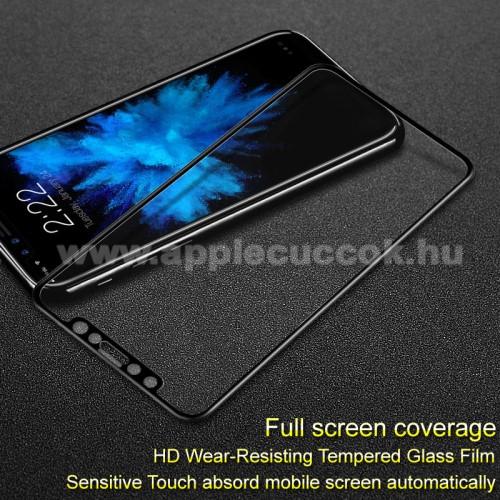 APPLE iPhone XSIMAK 3D Curved előlapvédő karcálló edzett üveg - FEKETE - 9H, A TELJES ELŐLAPOT VÉDI! - APPLE iPhone X / APPLE iPhone XS - GYÁRI