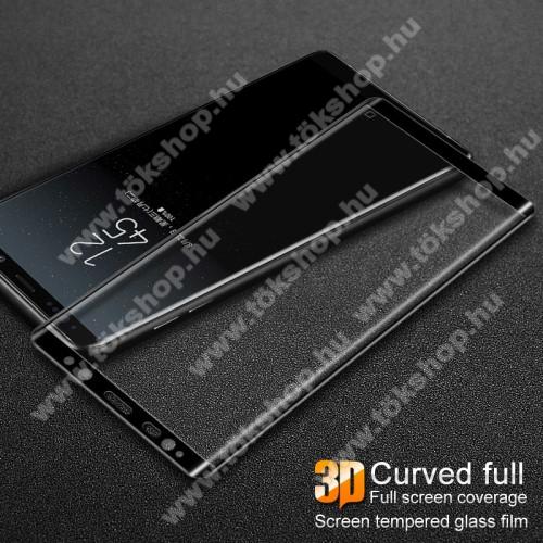 IMAK 3D Curved előlapvédő karcálló edzett üveg - 9H, A TELJES ELŐLAPOT VÉDI! - FEKETE - SAMSUNG SM-N950F Galaxy Note8 - GYÁRI