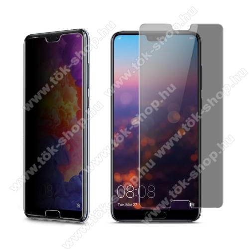 IMAK Anti-peep előlap védő karcálló edzett üveg - 9H, betekintés elleni védelemmel, A képernyő sík részét védi - Huawei P20 Pro (2018) - GYÁRI