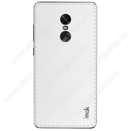 IMAK BelleArti hátlapvédő bőrbevonatú fólia, 0,6mm vékony - FEHÉR - Xiaomi Redmi Note 4X (Global version) - GYÁRI