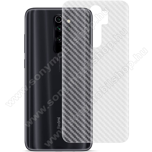IMAK Carbon hátlapvédő fólia - KARBON MINTÁS - 1db, A TELJES HÁTLAPOT VÉDI! - Xiaomi Redmi Note 8 Pro - GYÁRI