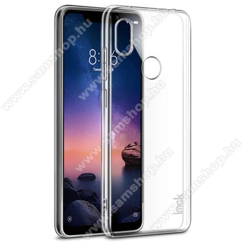 IMAK Crystal Case II Pro műanyag védő tok / hátlap - VÉKONY! 1mm, képernyővédő fóliával! - ÁTLÁTSZÓ - Xiaomi Redmi Note 6 Pro - GYÁRI