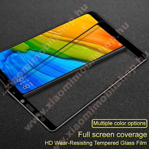 Xiaomi Redmi 5IMAK előlap védő karcálló edzett üveg - FEKETE - 9H - Xiaomi Redmi 5 - A TELJES KIJELZÕT VÉDI! - GYÁRI