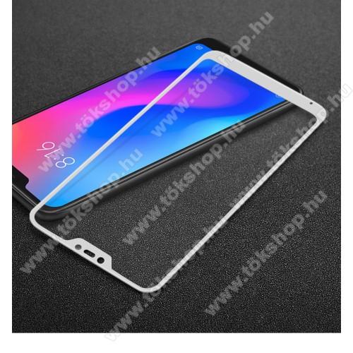 IMAK előlap védő karcálló edzett üveg - FEHÉR - 9H - Xiaomi Redmi 6 Pro / Xiaomi Mi A2 Lite - A TELJES KIJELZŐT VÉDI! - GYÁRI