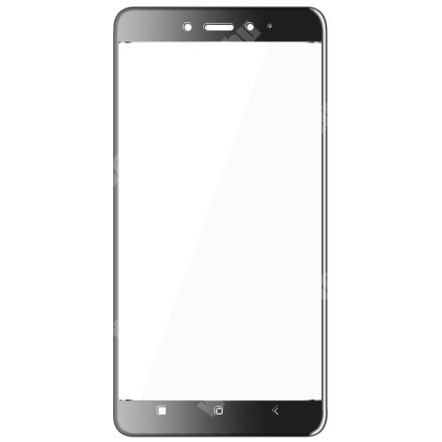 IMAK előlap védő karcálló edzett üveg - FEKETE - 9H - Xiaomi Redmi Note 4 - A TELJES KIJELZŐT VÉDI! - GYÁRI