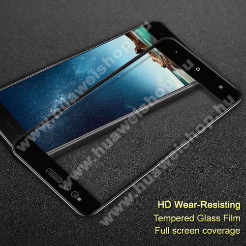 IMAK előlap védő karcálló edzett üveg - FEKETE - 9H - Xiaomi Mi 5X / Xiaomi Mi A1 - A TELJES KIJELZÕT VÉDI! - GYÁRI