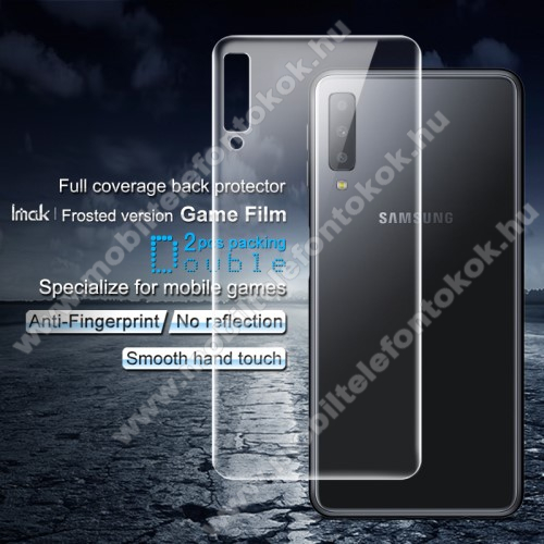IMAK Frosted Hydrogel Protector hátlapvédő fólia - MATT - 2db, 0,15 mm, A TELJES HÁTLAPOT VÉDI! - SAMSUNG SM-A750F Galaxy A7 (2018) - GYÁRI