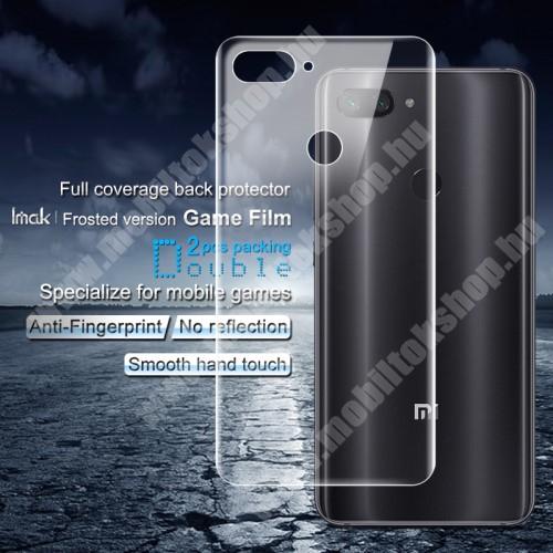 IMAK Frosted Hydrogel Protector hátlapvédő fólia - MATT - 2db, 0,15 mm, A TELJES HÁTLAPOT VÉDI! - Xiaomi Mi 8 Lite / Xiaomi Mi 8 Youth (Mi 8X) - GYÁRI
