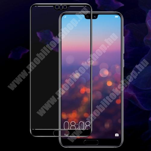 Huawei P20 Pro (2018) IMAK Full Cover előlap védő karcálló edzett üveg - FEKETE - 9H - HUAWEI P20 Pro (2018) - A TELJES KIJELZŐT VÉDI! - GYÁRI