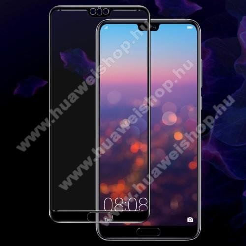 Huawei P20 Pro (2018)IMAK Full Cover előlap védő karcálló edzett üveg - FEKETE - 9H - HUAWEI P20 Pro (2018) - A TELJES KIJELZŐT VÉDI! - GYÁRI