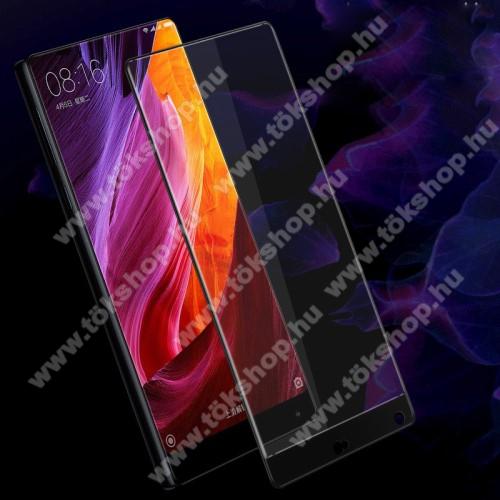 IMAK Full Cover előlap védő karcálló edzett üveg - 2.5D, arc edge, A teljes képernyőt védi - FEKETE - Xiaomi Mi Mix - GYÁRI