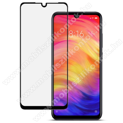 IMAK Glass Pro előlap védő karcálló edzett üveg - FEKETE - 9H - A TELJES KIJELZŐT VÉDI! - Xiaomi Redmi Note 7 / Xiaomi Redmi Note 7 Pro / Xiaomi Redmi Note 7S - GYÁRI