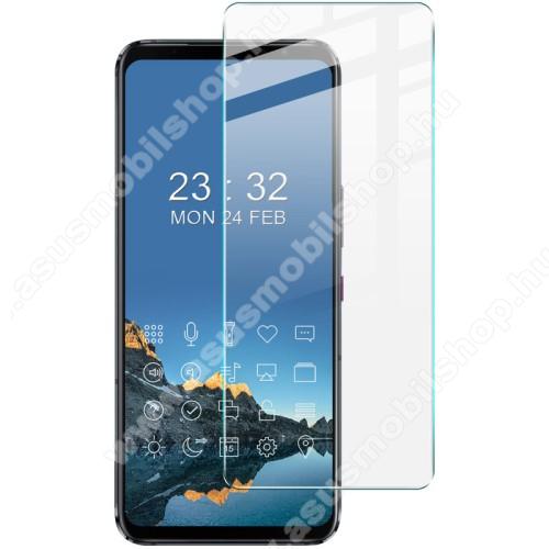 IMAK H előlap védő karcálló edzett üveg - 9H, A képernyő sík részét védi - ASUS ROG Phone 5 / ROG Phone 5 Pro / ROG Phone 5 Ultimate - GYÁRI