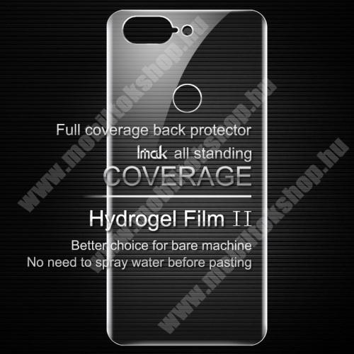 IMAK HD Hydrogel Protector hátlapvédő fólia - 2db, 0,15 mm, A TELJES HÁTLAPOT VÉDI! - OnePlus 5T - GYÁRI
