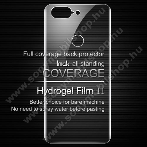 IMAK HD Hydrogel Protector hátlapvédő fólia - 1 db, 0,15 mm, A TELJES HÁTLAPOT VÉDI! - OnePlus 5T - GYÁRI