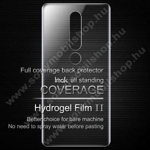 IMAK HD Hydrogel Protector hátlapvédő fólia - 1 db, 0,15 mm, A TELJES HÁTLAPOT VÉDI! - NOKIA 6.1 (2018) - GYÁRI