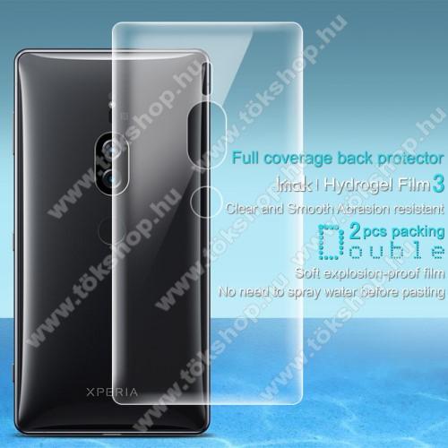 IMAK HD Hydrogel Protector hátlapvédő fólia - 2db, 0,15 mm, A TELJES HÁTLAPOT VÉDI! - SONY Xperia XZ2 Premium (2018) - GYÁRI