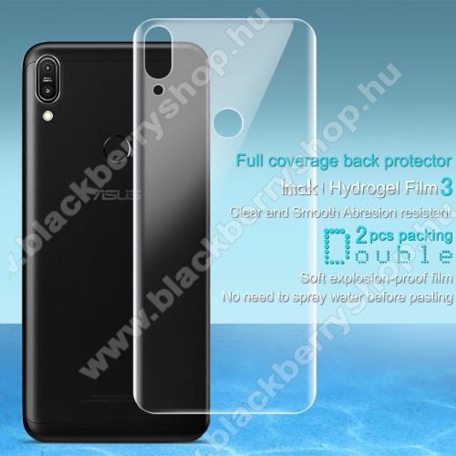 IMAK HD Hydrogel Protector hátlapvédő fólia - 2db, 0,15 mm, A TELJES HÁTLAPOT VÉDI! - ASUS Zenfone Max Pro (M1) (ZB601KL) / ASUS Zenfone Max Pro (M1) (ZB602KL) - GYÁRI