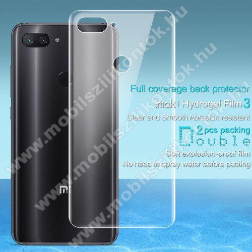 IMAK HD Hydrogel Protector hátlapvédő fólia - 2db, 0,15 mm, A TELJES HÁTLAPOT VÉDI! - Xiaomi Mi 8 Lite / Xiaomi Mi 8 Youth (Mi 8X) - GYÁRI