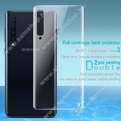 IMAK HD Hydrogel Protector hátlapvédő fólia - 2db, 0,15 mm, A TELJES HÁTLAPOT VÉDI! - SAMSUNG Galaxy A9 (2018) - GYÁRI