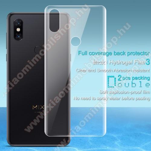 IMAK HD Hydrogel Protector hátlapvédő fólia - 2db, 0,15 mm, A TELJES HÁTLAPOT VÉDI! - Xiaomi Mi Mix 3 - GYÁRI