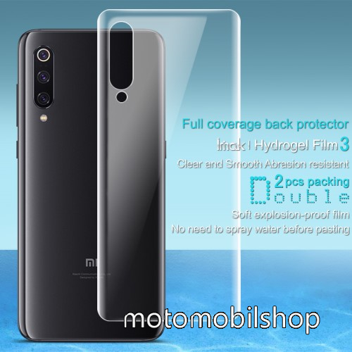 IMAK HD Hydrogel Protector hátlapvédő fólia - 2db, 0,15 mm, A TELJES HÁTLAPOT VÉDI! - Xiaomi Mi 9 / Xiaomi Mi 9 Explorer - GYÁRI