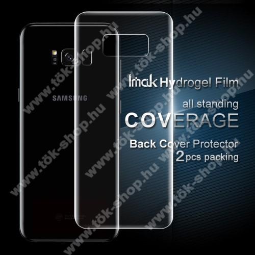 IMAK HD Hydrogel Protector hátlapvédő fólia - 2db, 0,15 mm, A TELJES HÁTLAPOT VÉDI! - SAMSUNG SM-G955 Galaxy S8 Plus - GYÁRI