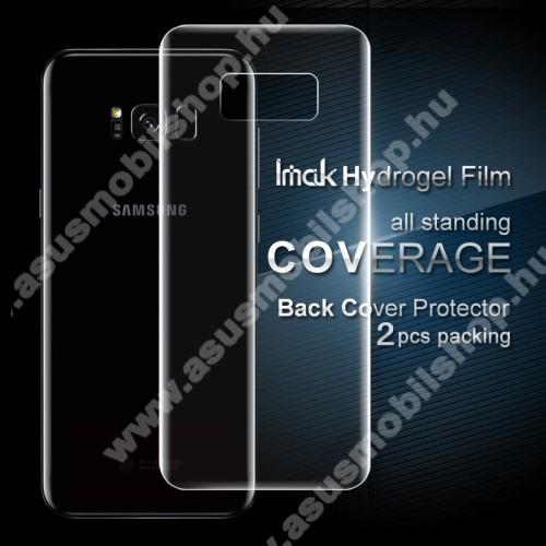 IMAK HD Hydrogel Protector hátlapvédő fólia - 2db, 0,15 mm, A TELJES HÁTLAPOT VÉDI! - SAMSUNG SM-G950 Galaxy S8 - GYÁRI