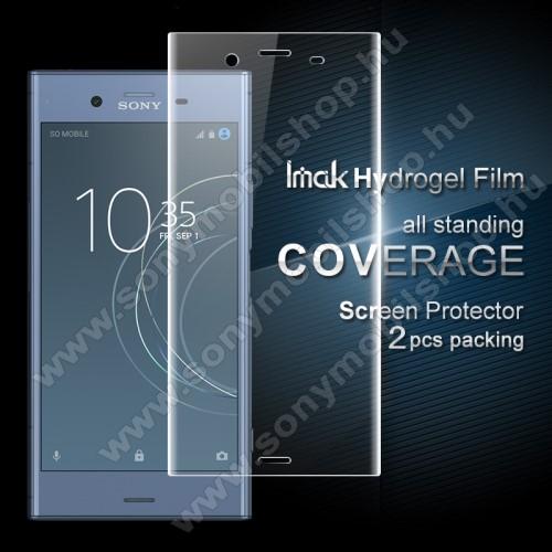 IMAK HD Hydrogel Protector képernyővédő fólia - 2db, 0,15 mm, A TELJES KIJELZŐT VÉDI! - Sony Xperia XZ1 - GYÁRI
