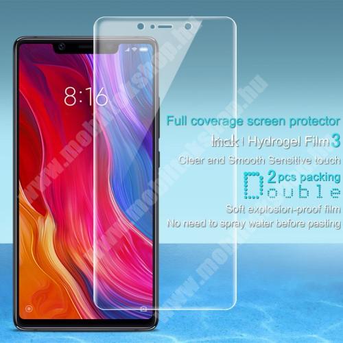 IMAK HD Hydrogel Protector képernyővédő fólia - 2 db, 0,15 mm, A TELJES KÉPERNYŐT VÉDI! - Xiaomi Mi 8 SE - GYÁRI