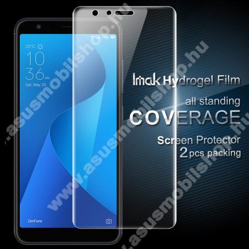 IMAK HD Hydrogel Protector képernyővédő fólia - 2db, 0,15 mm, A TELJES KIJELZŐT VÉDI! - ASUS Zenfone Max Plus (M1) (ZB570TL) - GYÁRI