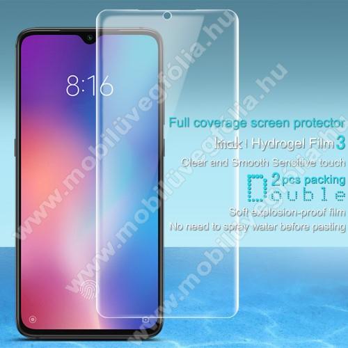 IMAK HD Hydrogel Protector képernyővédő fólia - 2db, 0,15 mm, A TELJES KIJELZŐT VÉDI! - Xiaomi Mi 9 / Xiaomi Mi 9 Explorer - GYÁRI