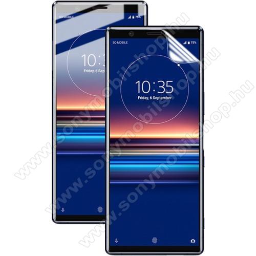 IMAK HD Hydrogel Protector képernyővédő fólia - 2db, 0,15 mm, A TELJES KIJELZŐT VÉDI! - Sony Xperia 5 - GYÁRI