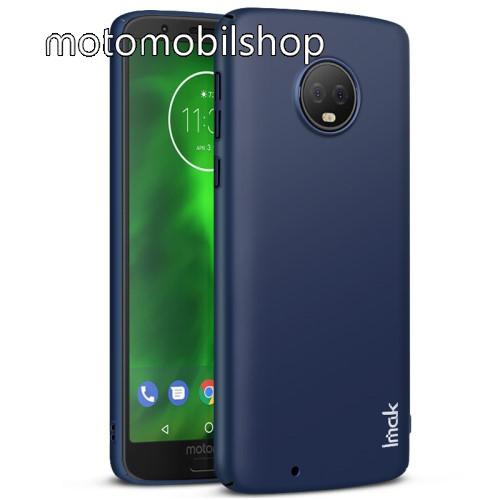 IMAK JAZZ SKIN műanyag védő tok / hátlap - VÉKONY! 1mm - SÖTÉTKÉK - képernyővédő fóliával! - MOTOROLA Moto G6 (2018) - GYÁRI