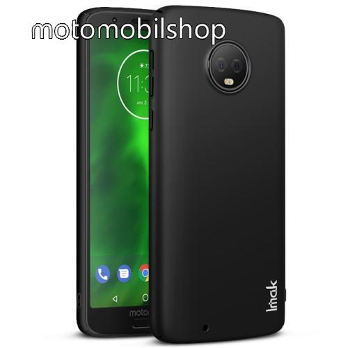 IMAK JAZZ SKIN műanyag védő tok / hátlap - VÉKONY! 1mm - FEKETE - képernyővédő fóliával! - MOTOROLA Moto G6 (2018) - GYÁRI