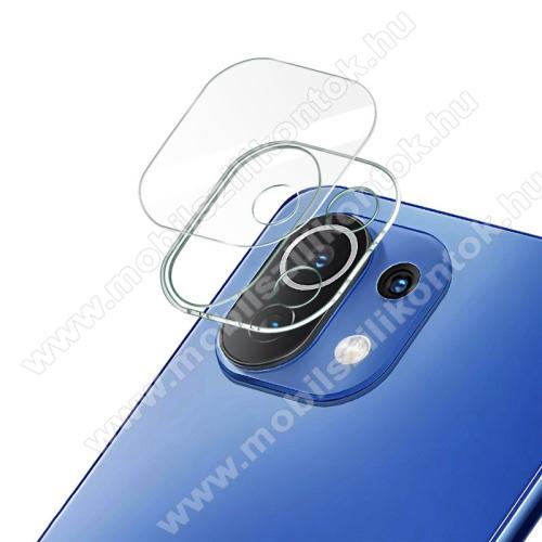 IMAK kamera lencsevédő üvegfólia - 1db, 9H, Arc Edges - Xiaomi Mi 11 Lite / Xiaomi Mi 11 Lite 5G - GYÁRI