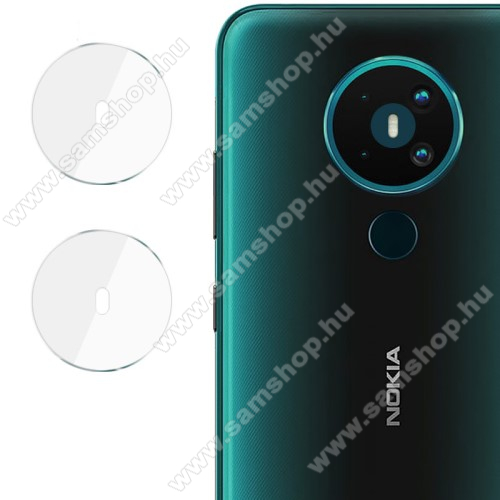 IMAK kamera lencsevédő üvegfólia - 2db, 9H, Arc Edges - NOKIA 5.3 - GYÁRI