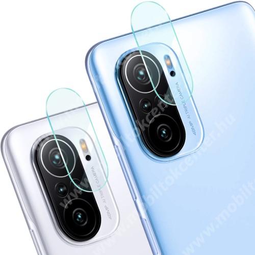 IMAK kamera lencsevédő üvegfólia - 2db, 9H, Arc Edges - Xiaomi Redmi K40 / Redmi K40 Pro / Redmi K40 Pro Plus / Mi 11i / Poco F3 - GYÁRI