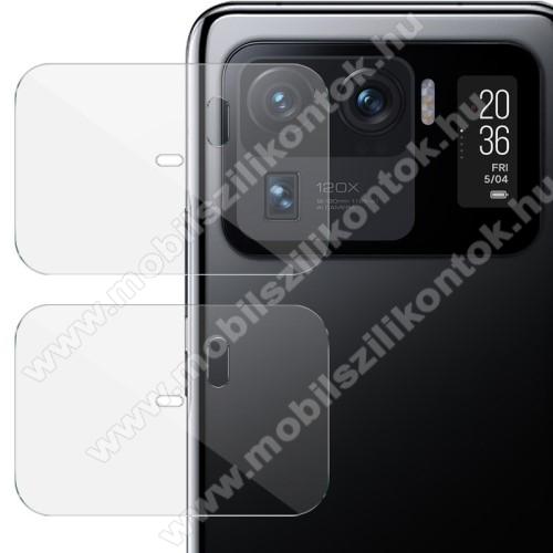 IMAK kamera lencsevédő üvegfólia - 2db, 9H, Arc Edges - Xiaomi Mi 11 Ultra - GYÁRI