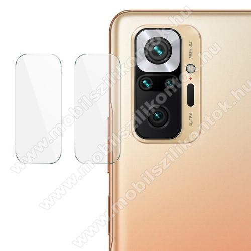 IMAK kamera lencsevédő üvegfólia - 2db, 9H, 0.2 mm, Arc Edges - Xiaomi Redmi Note 10 Pro / Redmi Note 10 Pro Max - GYÁRI